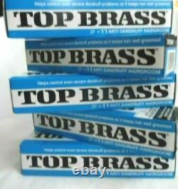 10 TUBES NEW REVLON TOP BRASS ANTI DANDRUFF HAIR CREAM ZP-11 3 ozs 84.5 g