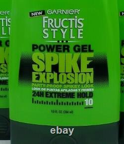 11Garnier Fructis Style Power Gel Spike Explosion 24Hr Extreme Hold 9 oz each