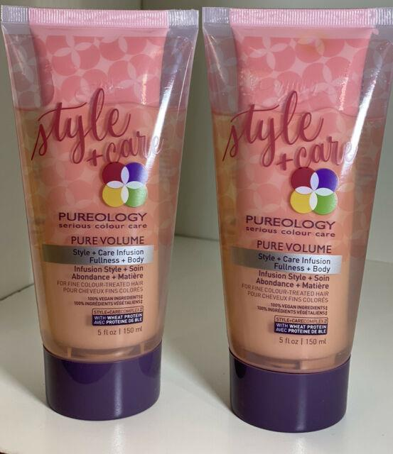 12x Pureology Pure Volume Style Care Infusion Gel Lotion Fine Hair 5oz