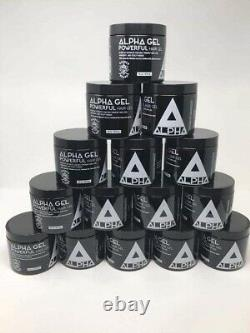 12 Units Of Alpha Powerful Hair Gel 16oz. (No-Alcohol & Water Based)