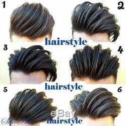 (#1B Off Black) SinoArt Men's Hairpiece Human Hair Toupee Wig Super Thin