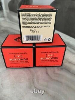 2 Day SALE 3x Items of Bumble And Bumble Sumo Wax (1.8oz each) NIB