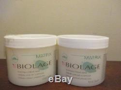 (2) MATRIX BIOLAGE SHAPING CREME WAX 4.2 oz