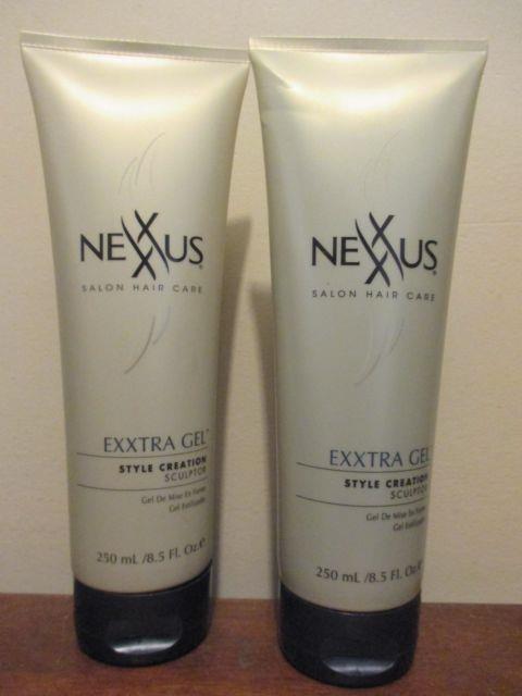 (2) Nexxus Exxtra Gel Style Creation Sculpting Gel 250 Ml (8.5 Oz) Original