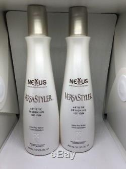 (2) Nexxus VERSASTYLER Artisitic Designing Lotion 13.5 oz Each