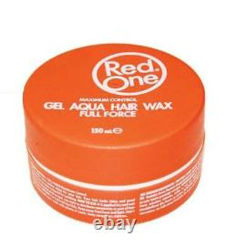 2 Red One Aqua Hair Wax Gel Maximum Control Sweet Melon Scent Hair Gel Wax 150ml