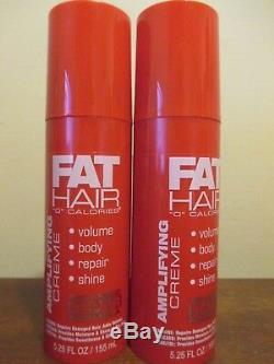(2) Samy Fat Hair 0 Calories Amplifying Creme 5.25 Oz. Each