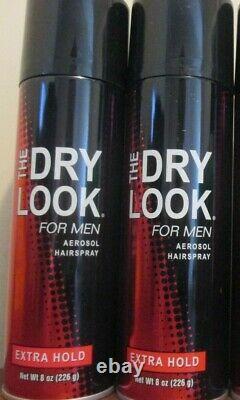 2x The Dry Look for Men Aerosol Hairspray Extra Hold 8 oz. Spray