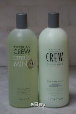 33.8 American Crew Citrus Mint Active Shampoo & Cooling Conditioner. Duo. LITER