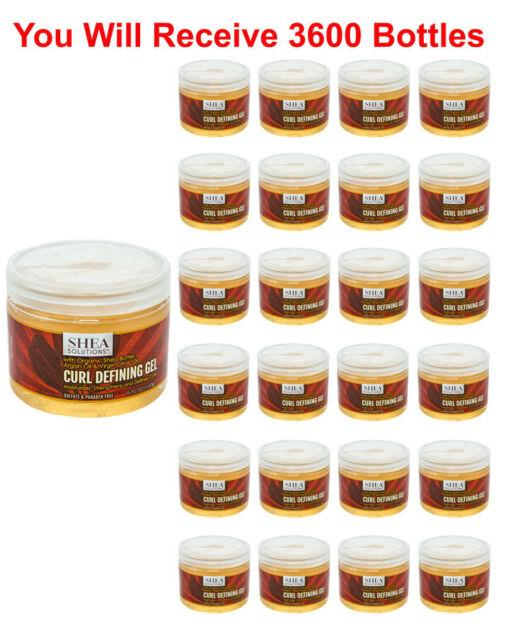 3600x Organic Shea Butter Curl Defining Hair Gel 6oz Bulk Wholesale Cloeseout