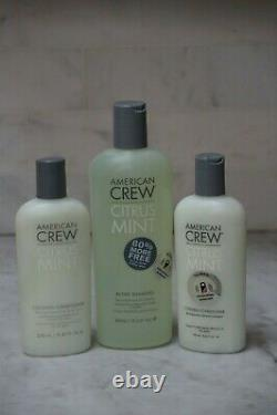3 PACK. 15.2 American Crew Citrus Mint Active Shampoo & 2 Cooling Conditioner