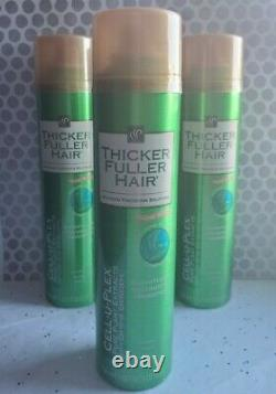3-PACK CELL-U-PLEX Thicker Fuller Hair Weightless Volumizing Hairspray 8oz VHTF