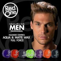 3 Red One Aqua Hair Wax Gel Maximum Control Sweet Melon Scent Hair Gel Wax 150ml