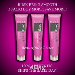 (3) Rusk Being Smooth Hair Cream / Creme Silken, Soften, Polish! 5.3 Oz Ea! New