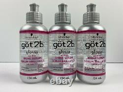 3 x Got2b Glossy Anti Frizz Shine Serum 124 ml