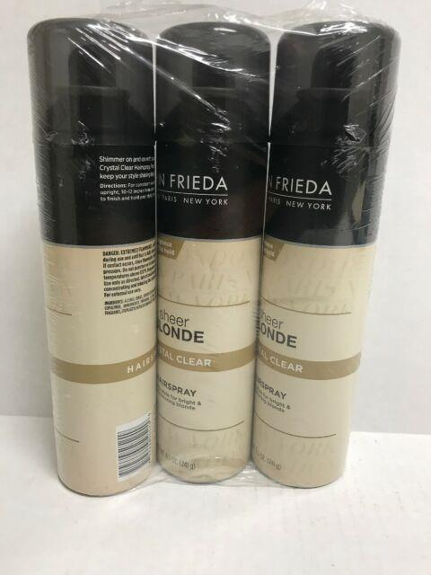 3 X John Frieda Sheer Blonde Crystal Clear Hairsprays 8.5 Oz. Discontinued New