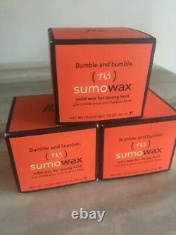 3x Items Bumble And Bumble Sumo Wax 50ml LOT Boxes GLOBAL SHIPPING
