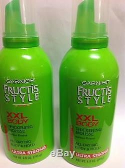 4 X Garnier Fructis Style XXL Body Thickening Mousse, Ultra Strong Hold NEW