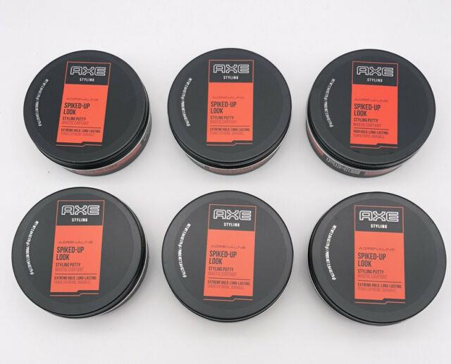 6new Axe Spiked Up Look Styling Putty Adrenaline High Hold Long Lasting 2.64 Oz