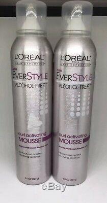 (6 Pack) L'Oreal Paris EverStyle Curl Activating Mousse, Alcohol-Free, 8 oz Each