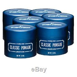 6 Pack Selvedge Grooming Classic Pomade, Medium Shine Strong Hold, 1.8 Ounce