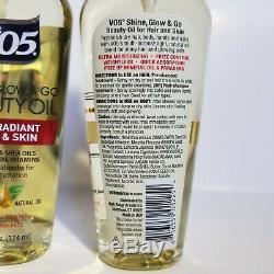 Alberto VO5 Shine Glow Go Body Hair Beauty Oil Argan Shea Oils 5.9 oz Lot of 2