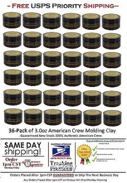 American Crew Molding Clay 3oz 36pk Bundle Free Same Day Priority Ship By 1CST
