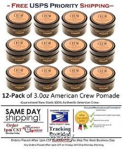 American Crew Pomade 3oz 12pack Bundle Medium Hold High Shine