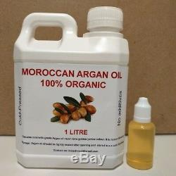 Argan Oil 1 Litre (plus 30ml Free) Moroccan Organic Oil, Free Postage, Australia