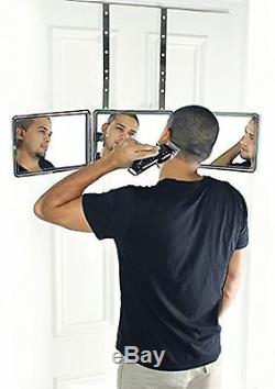 BASIC SELF-CUT SYSTEM Perfecting Self Grooming Black Lambo 3-Way Mirror wit