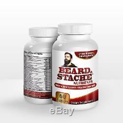 Beard and Stache Nutrients for Men Beard Growth Pills / Facial Hair Growth