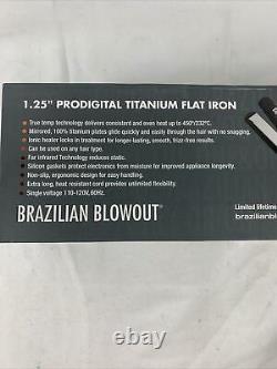 Brazilian Blowout 1.25 Prodigital Titanium Flat Iron Model 11T22
