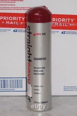 CASE OF 12 Straight Sexy Hair Shampoo. 10 oz. NEW. FREE SHIPPING