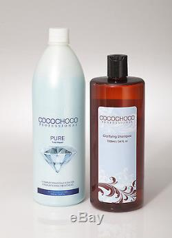 COCOCHOO PURE total repair Keratin Treatment 1000ml + cleansing Shampoo 1000ml
