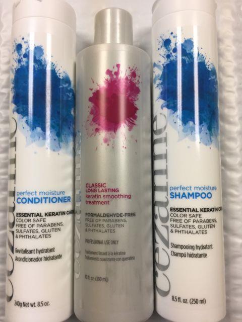 Cezanne Classic Long Lasting Keratin Smoothing Treatment + Shampoo & Conditioner