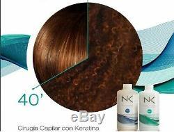 Cirugía Capilar Con Keratina Nk Professional Care Pasos 1y2 450ml