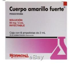 Cuerpo Amarillo Fuerte /Caja Con 6 Ampolletas 50mg Progesterona/progesterone