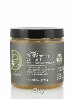 Design Essentials Natural Honey Curl Forming Custard 8 oz (Pack of 2)