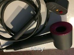 Dyson Supersonic Fushia/gray Color With Three Attachments