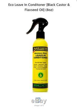 Eco Black Castor & Flaxseed Oil Leave In Conditoner (8oz)