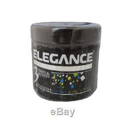 Elegance 3 Packs of Triple Action Styling Hair Gel 17.6oz/500ml, FACTORY SEALED