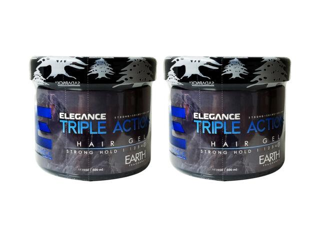 Elegance Triple Action Strong Hold Hair Gel Earth 17.15 Oz. Pack Of 2