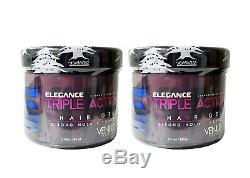 Elegance Triple Action Strong Hold Hair Gel VENUS 17.15 Oz. Pack of 2
