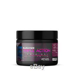 Elegance Triple Action Styling Hair Gel Venus Pink Label 17oz FACTORY SEALED