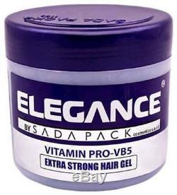 Elegance Vitamin Pro-VB5 Extra Strong Styling Hair Gel 8.8oz (Free Shipping!)