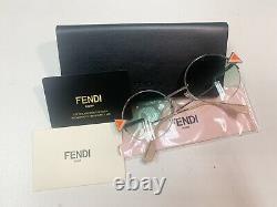 Fendi Sunglasses FF 0243/S VGVQC 51 SILVER GREEN VIOLET Gradient Eyewear ACA0012