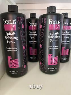 Focus 21 Splash Finishing Spray Ultimate Control Refill (32oz ea) 4 Bottle Set