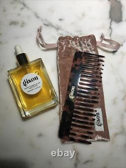 GISOU HONEY INFUSED HAIR OIL 100ml 3.4 FLOZ BUNDLE with GISOU TEXTURED COMB