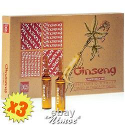 Ginseng Lozione Attiva BES Box 3 x 12x10ml trattamento intensivo contro caduta