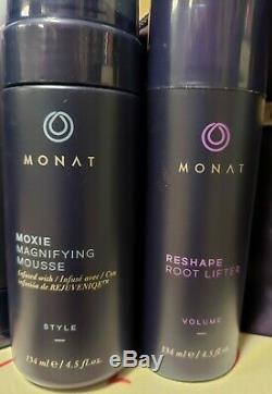 Huge Monat Lot Of 10, Rejuveniqe Air Dry Cream, Mousse, Conditioner Texture Mist